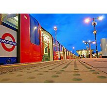 London Underground Train in the Blue Hour Photographic Print