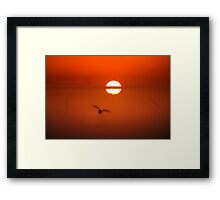 Shadow in morning fog Framed Print