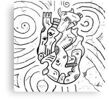 Psychedelic Animals Metal Print