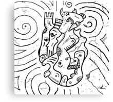 Psychedelic Animals Canvas Print