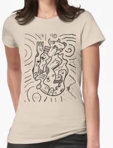 Psychedelic Animals Womens Fitted T-Shirt