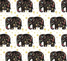 Floral Elephants by DoucetteDesigns