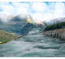 Raging river Photographic Print