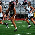 lacrosse bishop eustace 18 gloucester catholic 0 152 0 paint & ink by crescenti