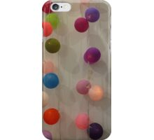 Coloured light balls and gentle shadows  iPhone Case/Skin