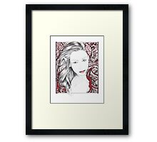 My World ~ A Beautiful Paisley Elf Framed Print