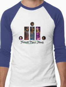 Street Pedal Black - #BlueInk Project Men's Baseball ¾ T-Shirt
