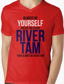 Always Be River Tam Mens V-Neck T-Shirt