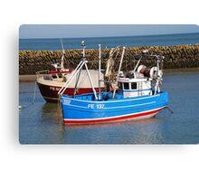 Folkestone harbour, England Canvas Print