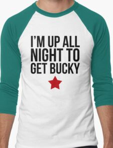 Up All Night To Get Bucky Men's Baseball ¾ T-Shirt