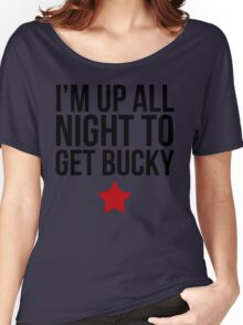 Up All Night To Get Bucky Women's Relaxed Fit T-Shirt
