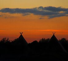 Tipis at Sunset by Samantha Higgs