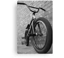 Monochrome BMX! Canvas Print