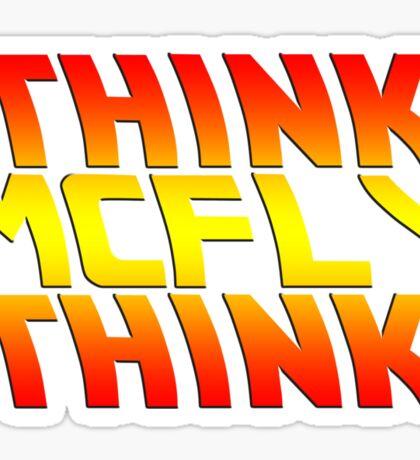 Think, McFly, Think  Sticker