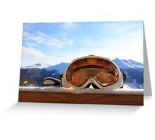 Ski Goggles Greeting Card