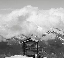 Monochrome Ski Hut by TJHarper93