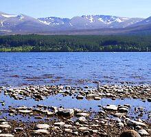 Loch Morlich & Cairngorm Mountains by Sally J Hunter