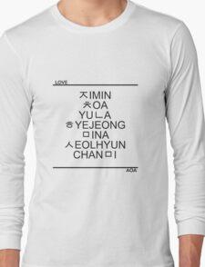 AOA Hangeul - Black Long Sleeve T-Shirt