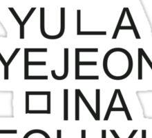 AOA Hangeul - Black Sticker