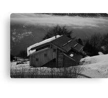 Black and White Chalet Canvas Print