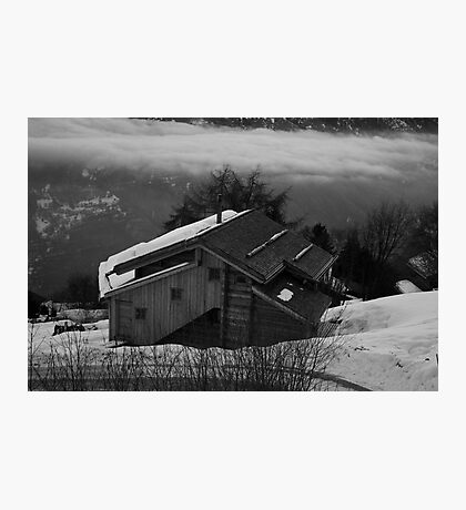 Black and White Chalet Photographic Print