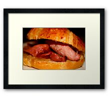 bacon in crossaint Framed Print