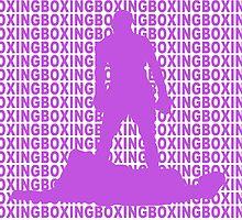 Muhammad Ali vs Sonny Liston Iconic Silhouette Pose Purple  by yin888