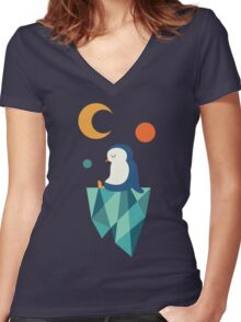 Private Corner Women's Fitted V-Neck T-Shirt