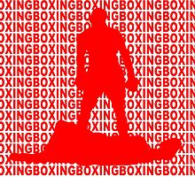 Muhammad Ali vs Sonny Liston Iconic Silhouette Pose Red by yin888