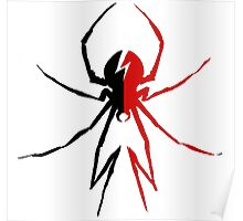 Killjoy Spider - Black and Red Poster