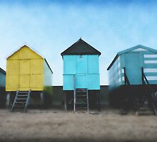 Row of Beach Huts, Southend on Sea. by Andrew Briffett