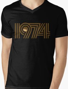 1974 Mens V-Neck T-Shirt