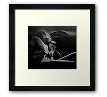 The Shadow Knows Framed Print