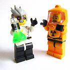 Mad Scientist and Hazmat  by HRLambert
