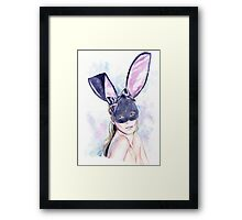Your playful bunny Framed Print