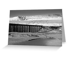Ribblehead in White - Whernside & Viaduct in the snow Greeting Card