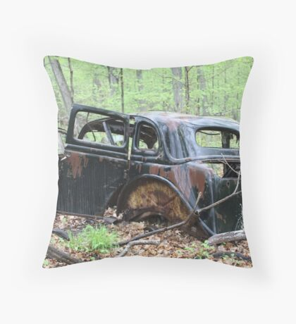January Motor Car Throw Pillow