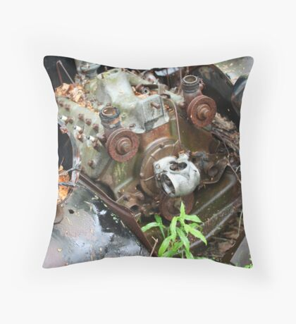 February Old Car Throw Pillow