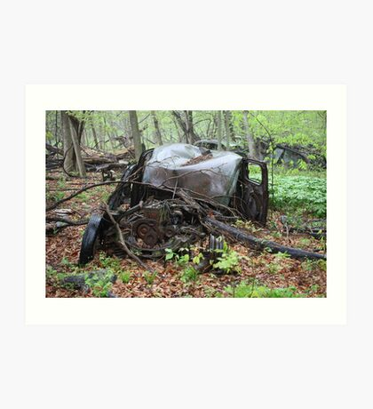 March Old Motor Car Art Print