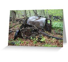 March Old Motor Car Greeting Card
