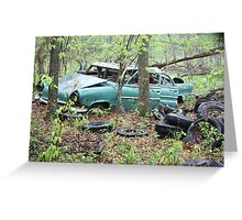 April Old Motor Car Greeting Card