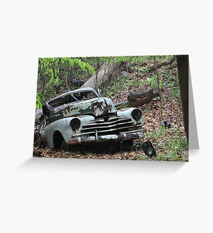 May Old Motor Car Greeting Card