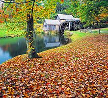 MABRY MILL,FALL by Chuck Wickham