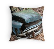 June Old Motor Car Throw Pillow