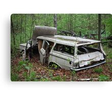 July Old Motor Car Canvas Print