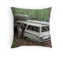 July Old Motor Car Throw Pillow