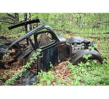 September Old Motor Car Photographic Print