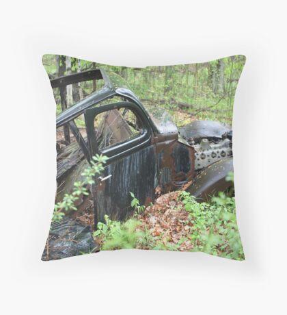 September Old Motor Car Throw Pillow