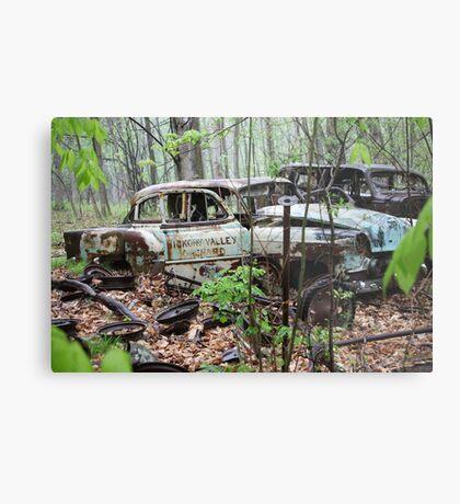 October Old Motor Car Metal Print