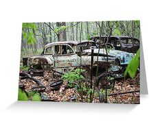 October Old Motor Car Greeting Card